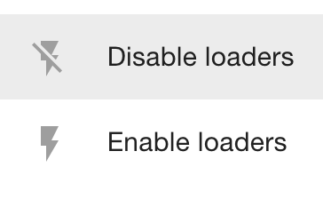 Disable loaders
